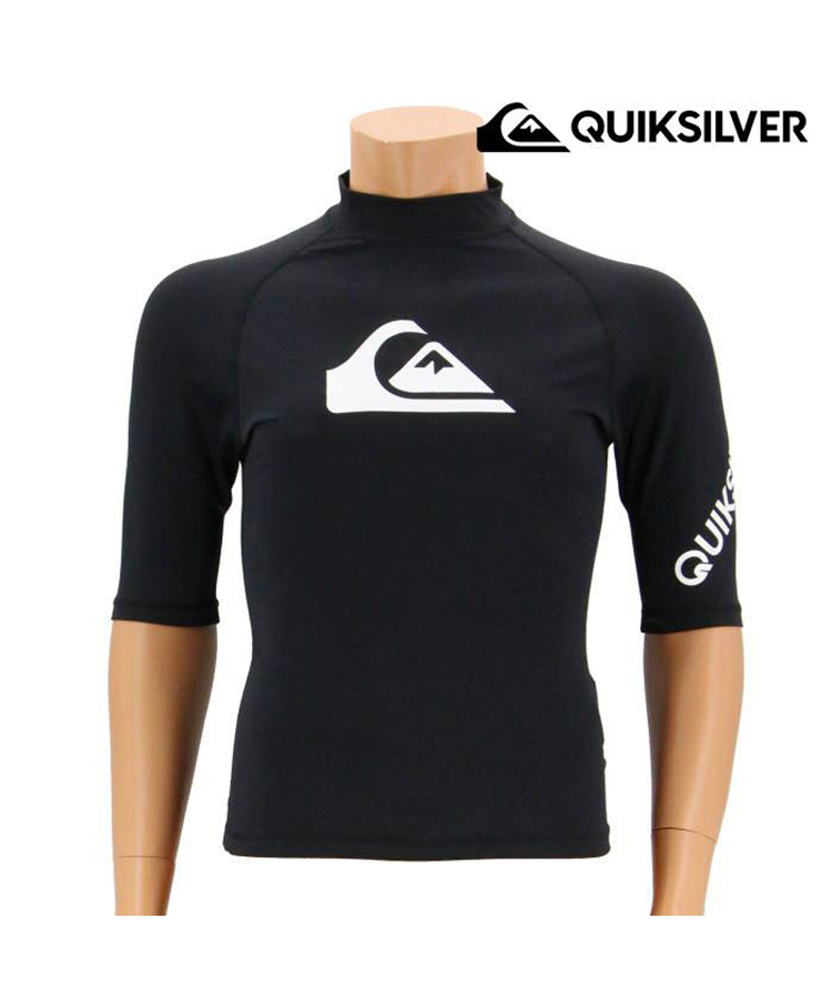 【SALE】 【QUIKSILVER】【QLY181001】ALL TIME SR メンズ半袖 ラッシュガード 7号/9号/11号/13号