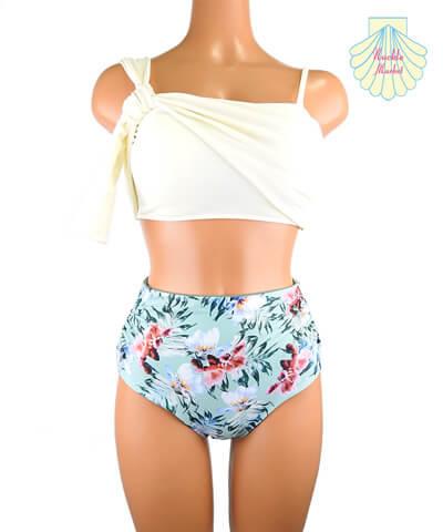 【NUCKLEMARKET】Solid One shoulder Bikini 9号