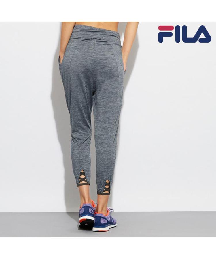 【FILA】裾レースアップ風メランジタック パンツ S/M/L/LL