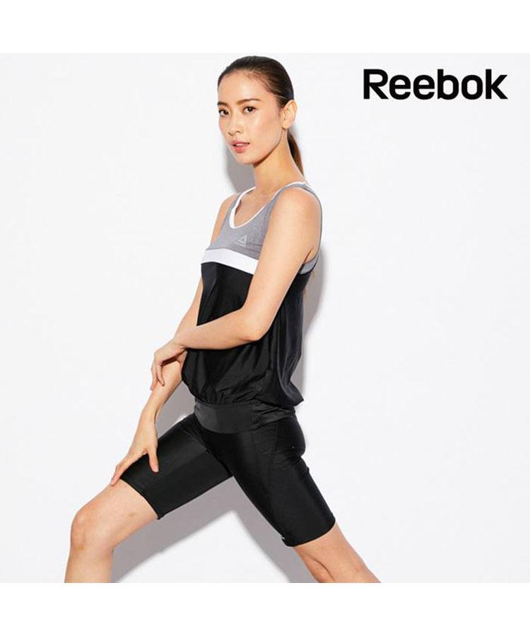 【Reebok】カラーブロックデザイン タンキニ水着 9号/11号