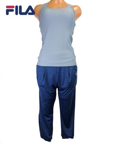 【SALE】【FILA】FILA yoga 無地タンクトップ+カスリ調ルーズ ボトム 9号/11号/13号
