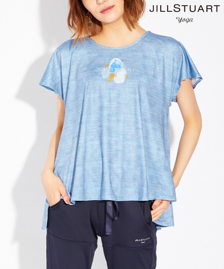 【JILL STUART yoga】ロゴ入りプリント Tシャツ M/L