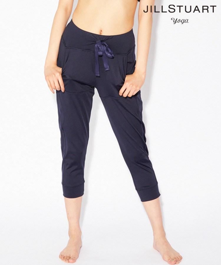 【SALE】【JILL STUART yoga】ウエスト紐 ポケット付きベーシックヨガ パンツ S/M/L