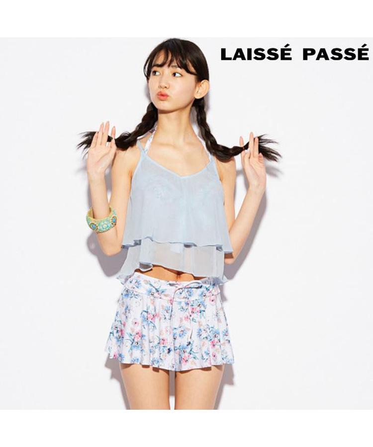 【2018年新作】【LAISSE PASSE】フラワーシャワー 4点セット水着 7号/9号/11号