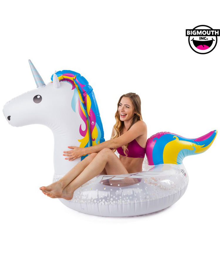 【BIG MOUTH】【BMPF-0065】 Bright Unicorn Pool Float 浮き輪 F