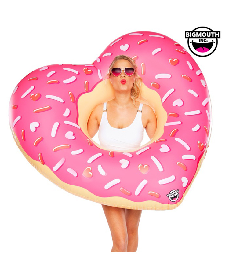 【BIG MOUTH】【BMPF-0035】 Giant Pool Float  Heart  Donut 浮き輪 F
