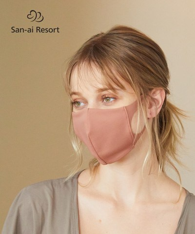 【2020年新作】【San-ai Resort】【洗って使える】水着素材 UVカットマスク M