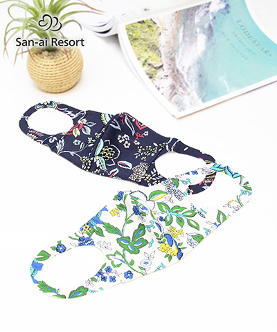 【2020年新作】【San-ai Resort】【洗って使える】水着素材フェイス マスク M