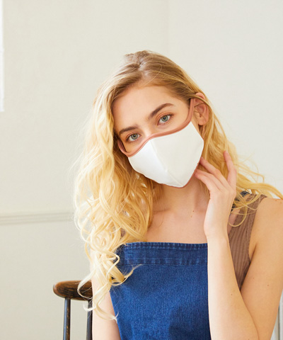 【洗って使える】【UPF50+】水着素材フェイスマスク パイピング仕様M【San-ai Resort(サンアイリゾート)】