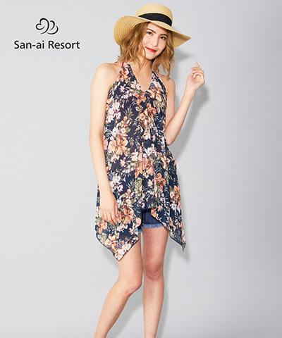 【2020年新作】【San-ai Resort】パレオ ワンピース