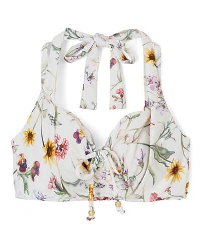 【San-ai Resort】(上下別売り)Primavera Liberty Fabric グラマラスフィット ビキニトップス単品 9C/9D