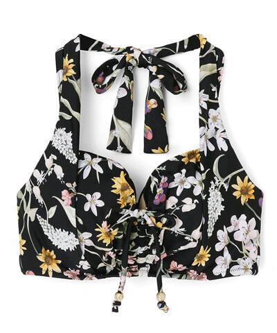 【San-ai Resort】(上下別売り)Primavera Liberty Fabric グラマラスフィット ビキニトップス単品 11EF/13GHI