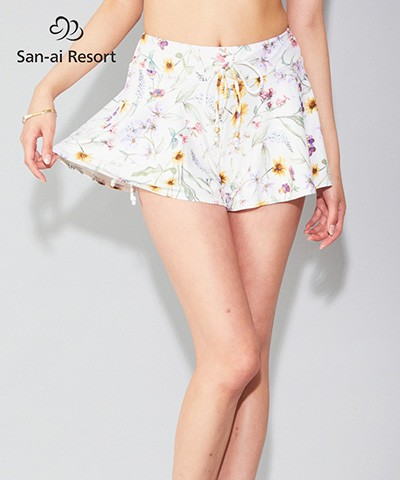 【2020年新作】 【San-ai Resort】Primavera Liberty Fabric ショートパンツ単品 M