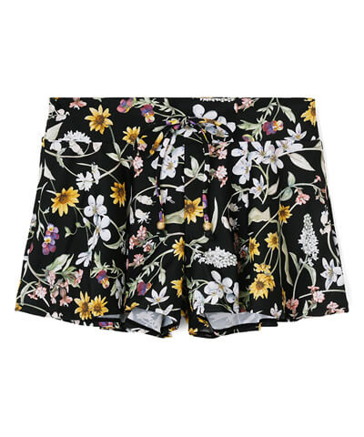 【San-ai Resort】Primavera Liberty Fabric ショートパンツ単品 M
