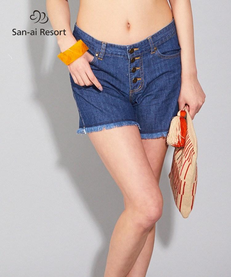【2020年新作】【San-ai Resort】ローライズ デニムパンツ S/M/L