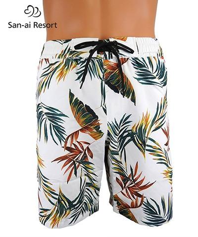 【San-ai Resort】Leaf メンズ ボードショーツ M/L/LL