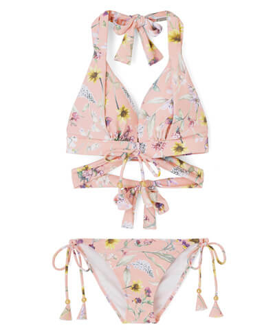 【San-ai Resort】Primavera Liberty Fabric ナチュラルアップ ビキニ 7M号/9号