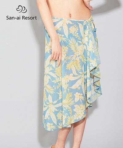 【San-ai Resort】Line tropical パレオ単品 F
