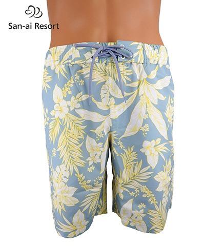 【2020年新作】【San-ai Resort】Line Tropical メンズ ボードショーツ M/L/LL