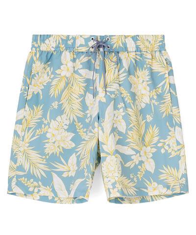 【San-ai Resort】Line Tropical メンズ ボードショーツ M/L/LL