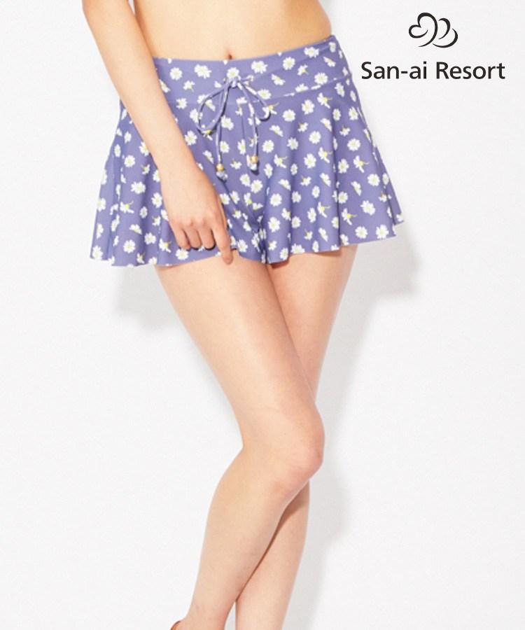 【San-ai Resort】Small Flower ショート パンツ M