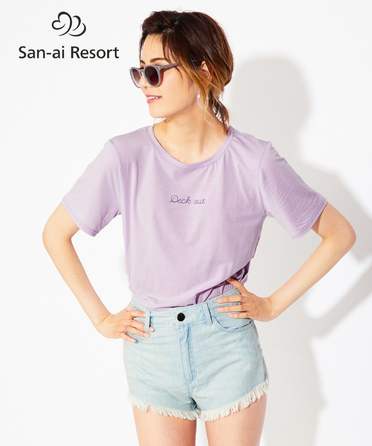 【San-ai Resort】Pe天竺 Tシャツ M