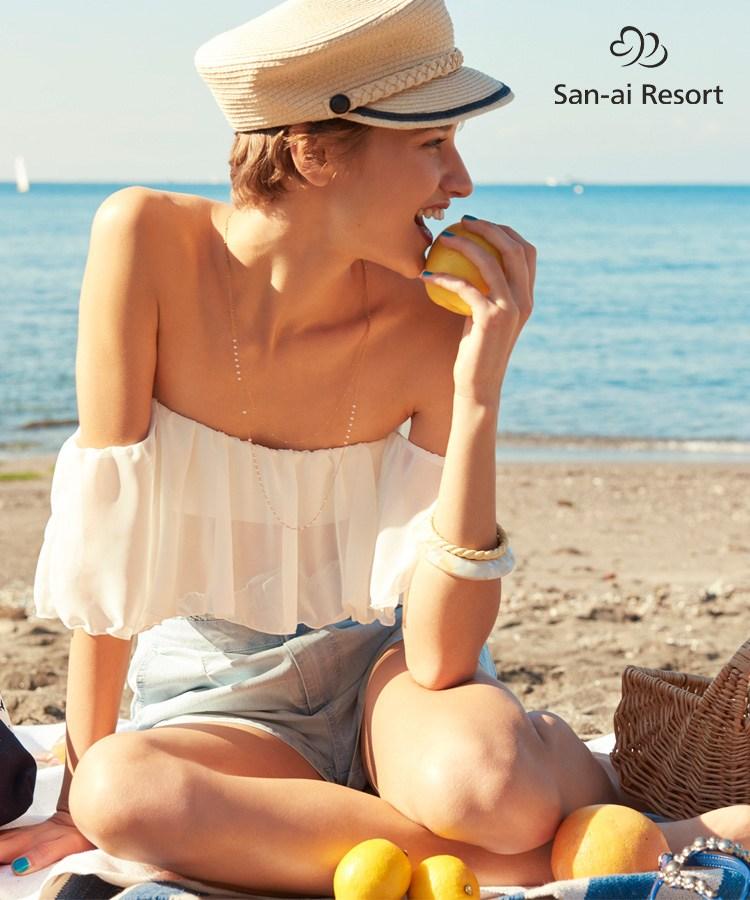【2019年新作】【San-ai Resort】Solid オフショルダー ビキニ 9号