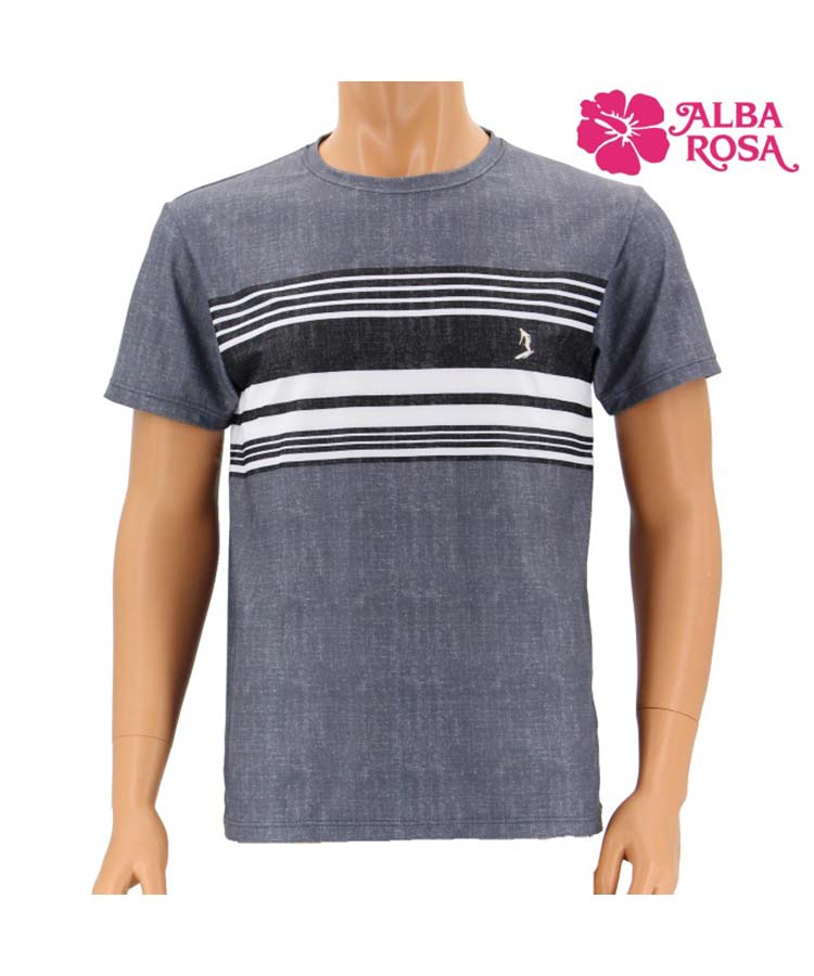 【SALE】刺繍入りボーダーデザイン Tシャツ M/L