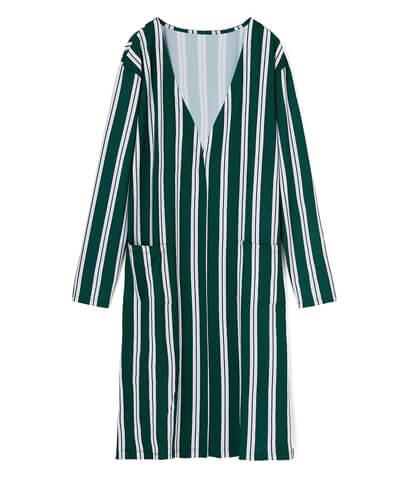 【Reir Beach】ストライプ柄&チョークアート柄 ロング羽織り M