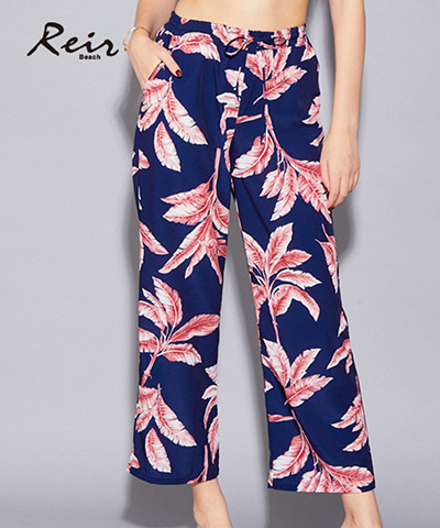 【Reir Beach】デシンロング パンツ M