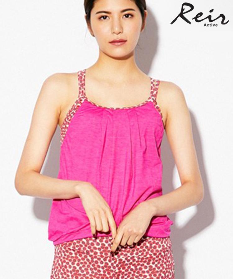 【SALE】【YOGA】(スポーツ用/インポート素材)Jersey Lomellina杢+Liberty fabrics キャミブラ  9号/11号