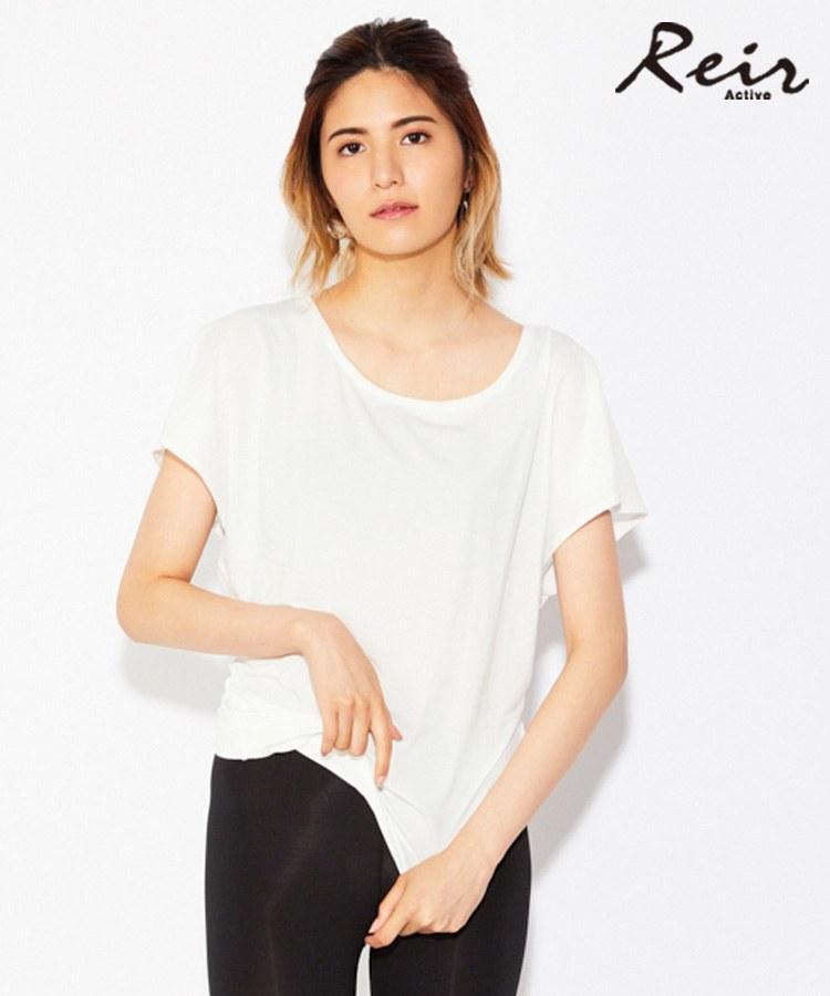 【Reir Active】Pe天竺 アシンメトリ Tシャツ M