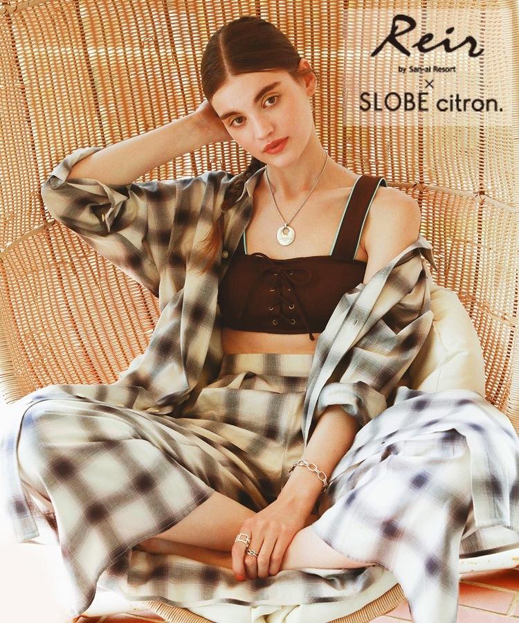 【SALE】【Reir×SLOBE citron.コラボ商品】Solidプリント ブラトップ 上下別売り 9号