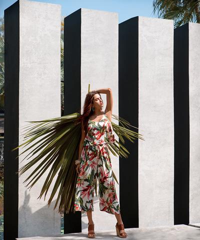 【Coral veil】Lily Garden ガウチョ 3点セット 9号/11号