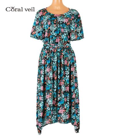 【Coral veil】Gloucestershire Walk(Liberty Fabric)ドレス 3点セット 9号/11号
