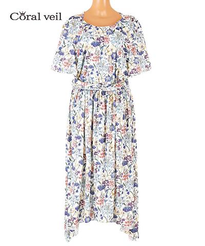 【Coral veil】Gloucestershire Walk(Liberty Fabric)ドレス 3点セット 13号/15号