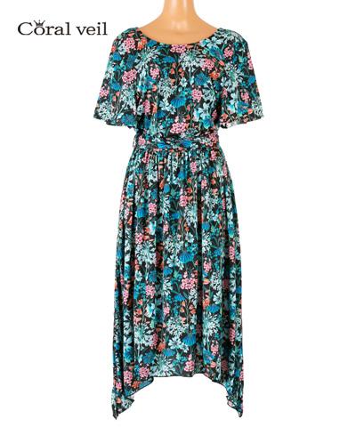 【Coral veil】Gloucestershire Walk(Liberty Fabric) ワンピース M/L