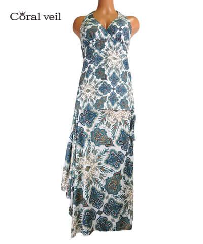 【Coral veil】Lady Paisley(Liberty Fabric) ドレス3点セット 水着 9M/11L