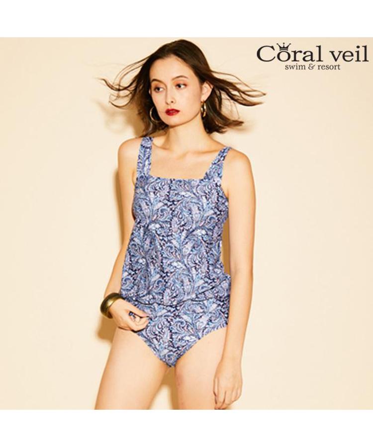 【2019年新作】【Coral veil】May Fair タンキニ水着 9号/11号