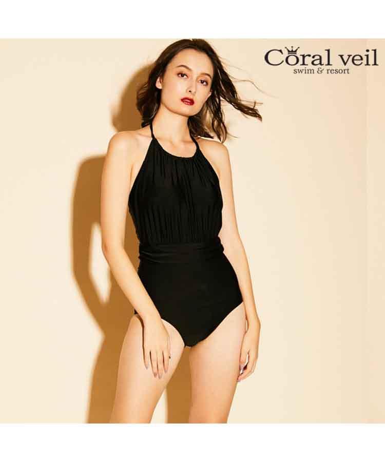 【2019年新作】【Coral veil】Loyme ワンピース水着 9号/11号