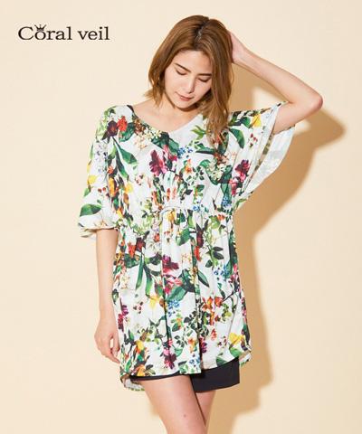 【Coral veil】Botanical Garden プルオーバー M