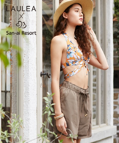【2020年新作】【LAULEA×San-ai Resort】Solid ショートパンツ M/L/LL