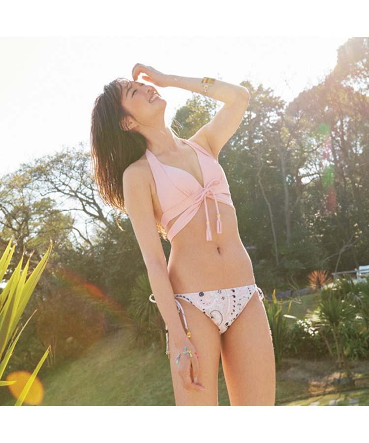 【SALE】【AI Pink】solid×Bicolorboheme ナチュラルアップブラ ビキニ 9号/7M